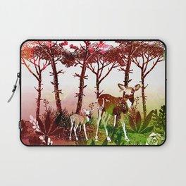 Deer Forest Watercolor Design Laptop Sleeve