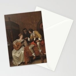 Jan Steen - Ascagnes and Lucelle (The Music Lesson) Stationery Cards