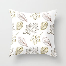 Leaves (browns) Throw Pillow