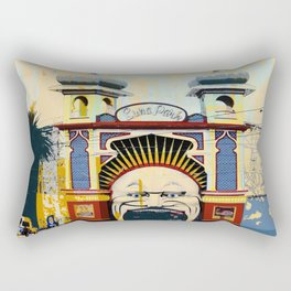 Luna Park in St.Kilda Rectangular Pillow