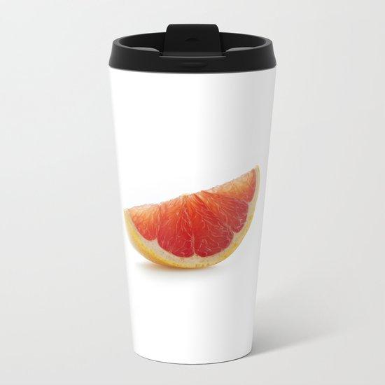 Grapefruit slice Metal Travel Mug