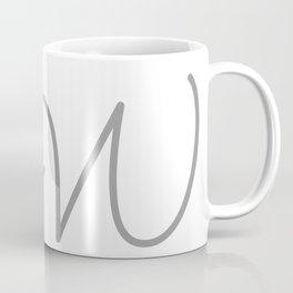 W Initial with Stitch Marker Coffee Mug
