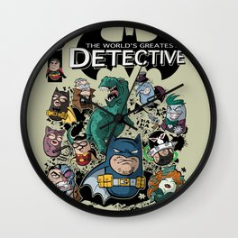 Bat Beans- The Worlds Greatest Detective Wall Clock