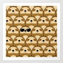 Sloth Army Art Print