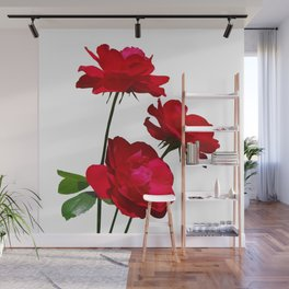 Roses are red, really red! Wall Mural
