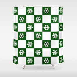 Winter - hunter green check - more colors Shower Curtain