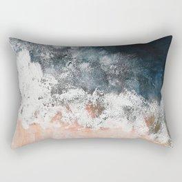 Aerial ocean, coast,  beach, waves, sea, prints, project Rectangular Pillow
