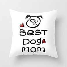 Best dog mom Throw Pillow