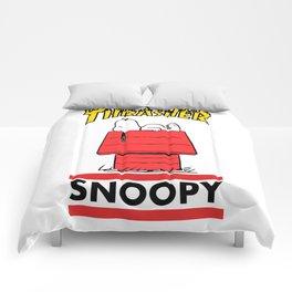Snoopy Trasher logo Comforters