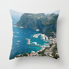 Italy, Capri Landscape View Throw Pillow