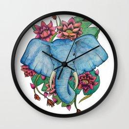 Lily Tusks Wall Clock