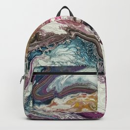 Euphoria, Pouring medium, acrylic on canvas Backpack