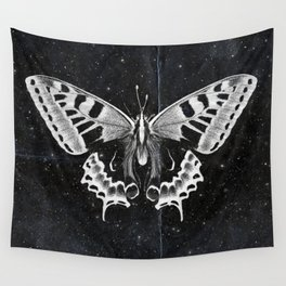 Butterfly in the stars Wall Tapestry