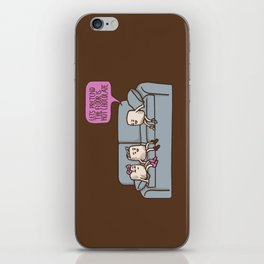 The Floor is Hot Chocolate! iPhone Skin
