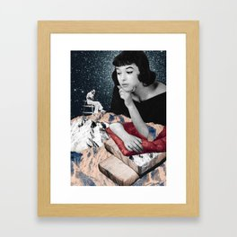 Oh, those mountains. Framed Art Print
