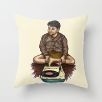 moonrise kingdom Throw Pillows featuring Moonrise Kingdom by Laura O'Connor