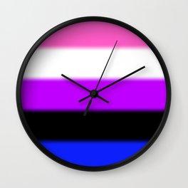 Genderfluid Pride Flag Wall Clock
