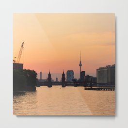 berlin kreuzberg -  skyline and sunset Metal Print