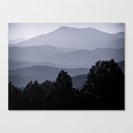 Misty morning at the Smoky's Canvas Print