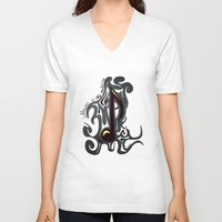 medicine V-neck T-shirts featuring Music is my medicine. by Emsify
