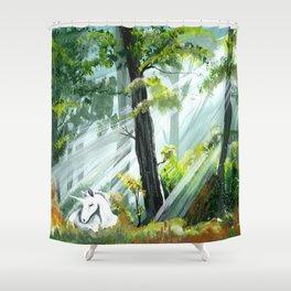 Unicorn Foal II Shower Curtain