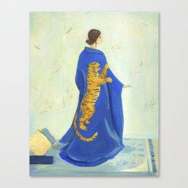Tiger Kimono Canvas Print