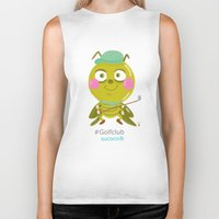 golf Biker Tanks featuring GOLF by Sucoco