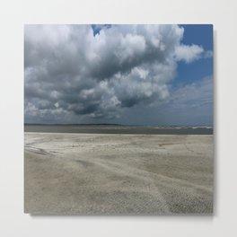 Dramatic Sky Over Golden Isles Beach Metal Print