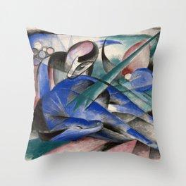 Franz Marc - Dreaming Horse Throw Pillow