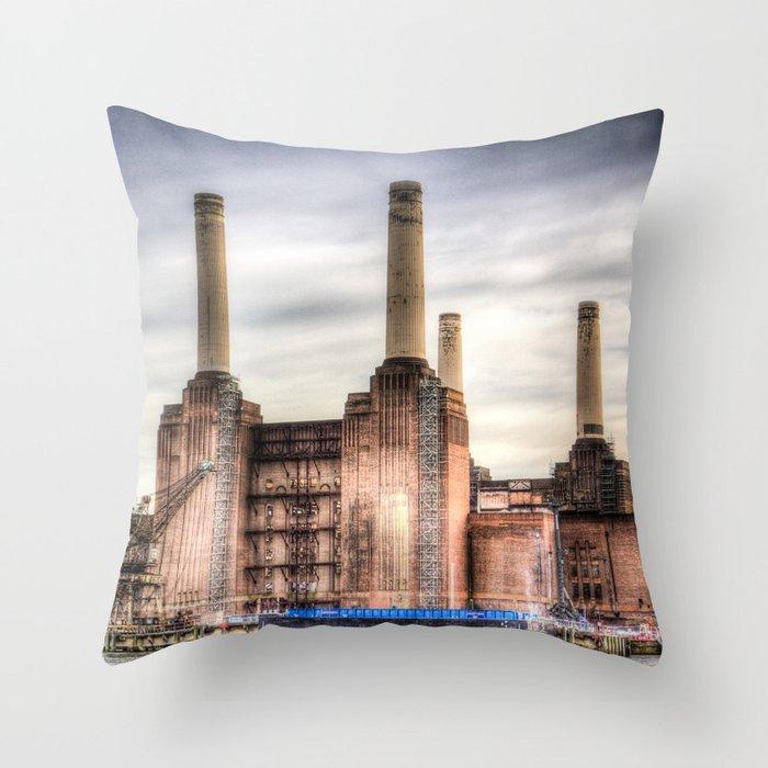 Battersea Power Station London Throw Pillow