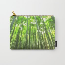 Bamboo Forest Illustration Carry-All Pouch