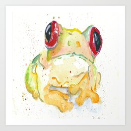 Springy Froggy Art Print