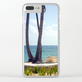 Boats on the Beach Clear iPhone Case