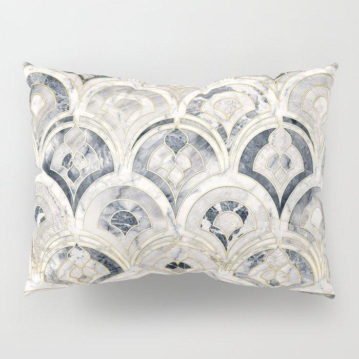 Monochrome Art Deco Marble Tiles Pillow Sham