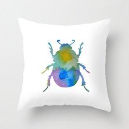 Beetle Scarabaeus Throw Pillow