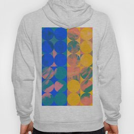 Pop Art Pattern Abstract in Yellow and Blue Hoody