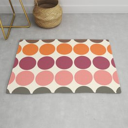 70s Style Clolorful Freehand Retro Dots Rug