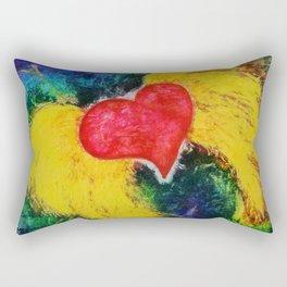 A Free Heart Aqua & Purple Rectangular Pillow