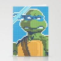 teenage mutant ninja turtles Stationery Cards featuring Teenage Mutant Ninja Turtles - Leonardo by James Brunner