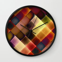 COLOURFUL HILLS IV Wall Clock