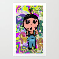 agnes cecile Art Prints featuring Agnes by Sean Chen
