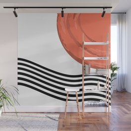 Abstract grunge sunset Wall Mural