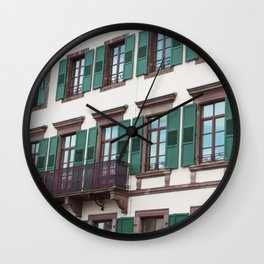 the green ones Wall Clock