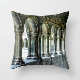 Askeaton Castle Cloisters Throw Pillow
