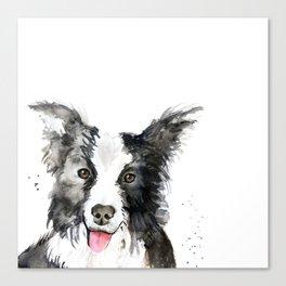 Inky Dog Canvas Print