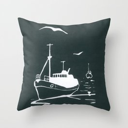 Comrades in Grey Throw Pillow