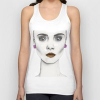 cara Tank Tops featuring Cara by Vicky Ink.