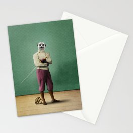 Milton Meerkat: Fencing Master Stationery Cards