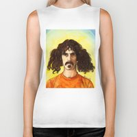 zappa Biker Tanks featuring Frank Zappa by IamDeirdre