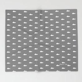 Tiny Subs - Gray Throw Blanket